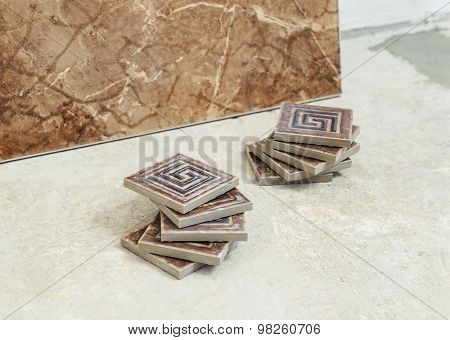 Ceramic Tile On The Floor