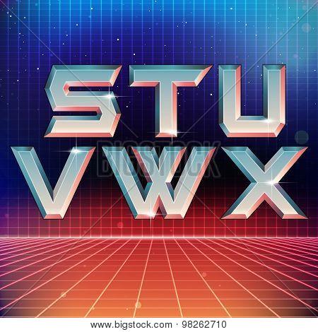 80s Retro Futuristic Font