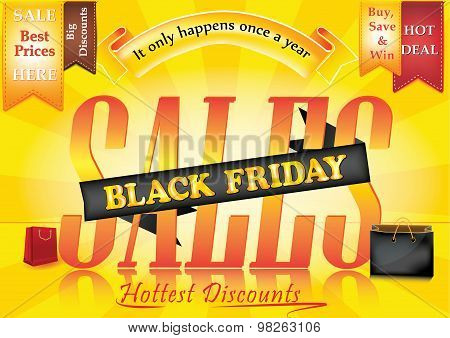 Black Elegant Black Friday sale advertising poster