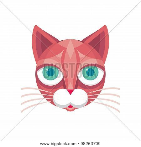 Cat head - vector sign illustration. Cat logo. Cat animal symbol.