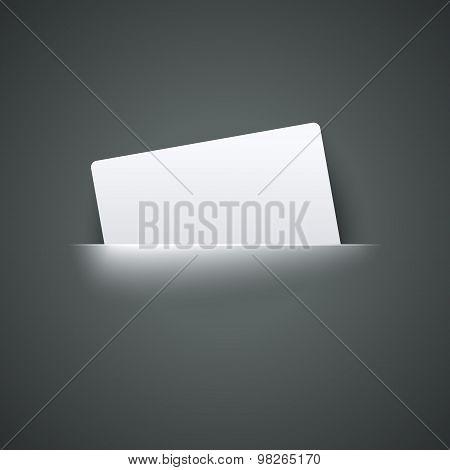 Label in pocket