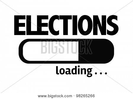 Progress Bar Loading with the text: Elections