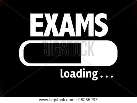 Progress Bar Loading with the text: Exams
