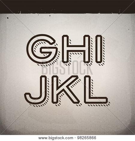 Vector Stylish Retro Font