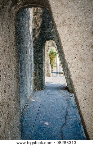 Stone Passage In Tunnel Form, Sirmione, Italy