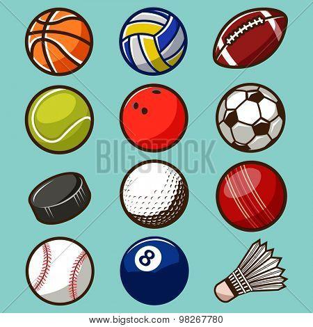 Sport Balls Vector Set 02