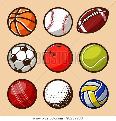 Sport Balls Vector Set 01