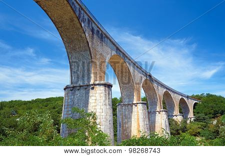 Stone Railway viaduct over the River Ardeche