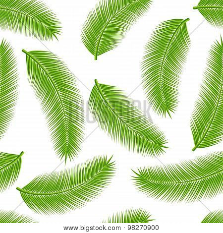 Palm leaves seamless