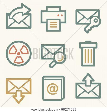 E-mail web icons