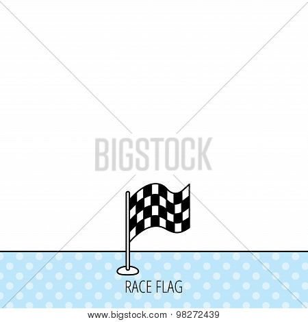 Racing flag icon. Finishing symbol.
