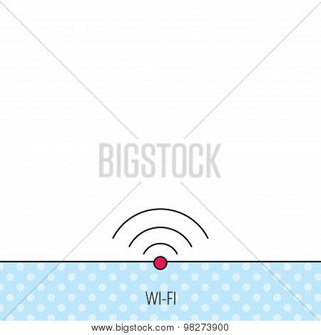 Wifi icon. Wireless wi-fi network sign.