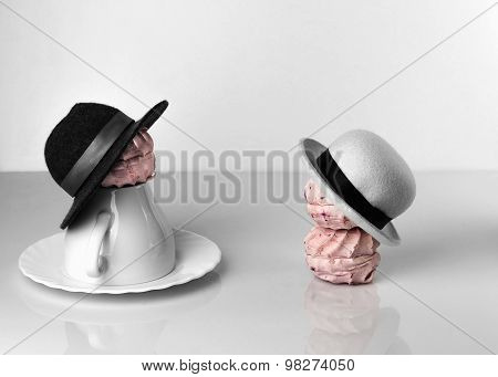 Berry Zephyr Hats Depicts Girl And Man