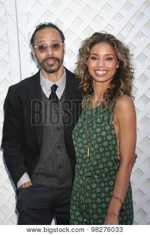 LOS ANGELES - AUG 8:  Brytni Sarpy, her father at the 17th Annual HollyRod Designcare Gala at the The Lot on August 8, 2015 in West Hollywood, CA
