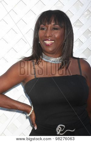 LOS ANGELES - AUG 8:  Kiki Shepard at the 17th Annual HollyRod Designcare Gala at the The Lot on August 8, 2015 in West Hollywood, CA