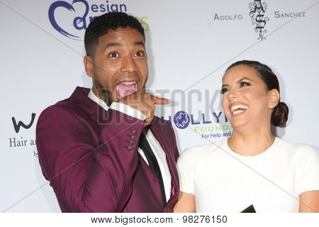 LOS ANGELES - AUG 8:  Jussie Smollett, Eva Longoria at the 17th Annual HollyRod Designcare Gala at the The Lot on August 8, 2015 in West Hollywood, CA