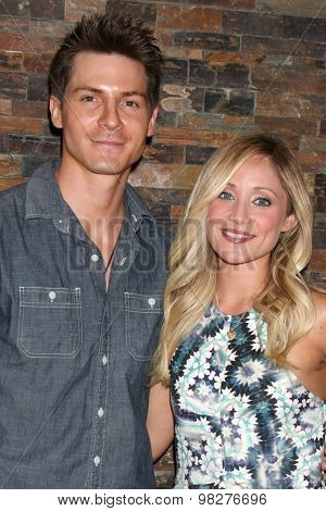 LOS ANGELES - AUG 8:  Robert Palmer Watkins, Emme Rylan at the General Hospital Fan Club Luncheon Arrivals at the Embassy Suites Hotel on August 8, 2015 in Glendale, CA