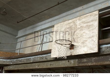 Basketball Backboard And Net