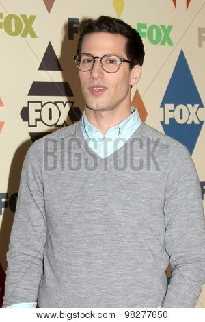 LOS ANGELES - AUG 6:  Andy Samberg at the FOX Summer TCA All-Star Party 2015 at the Soho House on August 6, 2015 in West Hollywood, CA