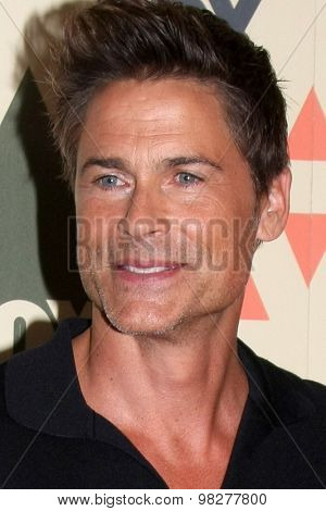 LOS ANGELES - AUG 6:  Rob Lowe at the FOX Summer TCA All-Star Party 2015 at the Soho House on August 6, 2015 in West Hollywood, CA