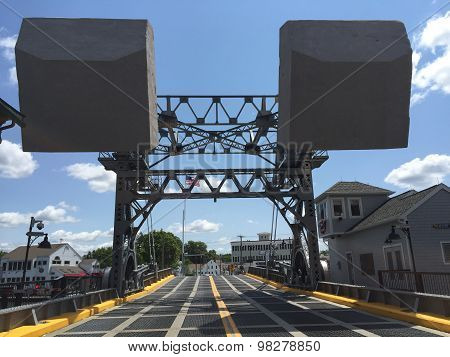 The Mystic River Bascule Bridge in Mystic, Connecticut