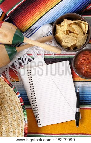 Mexican Nachos With Notebook