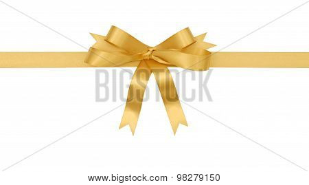 Gold Gift Ribbon And Bow