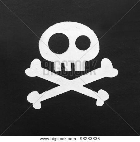 Pirate eyepatch on white
