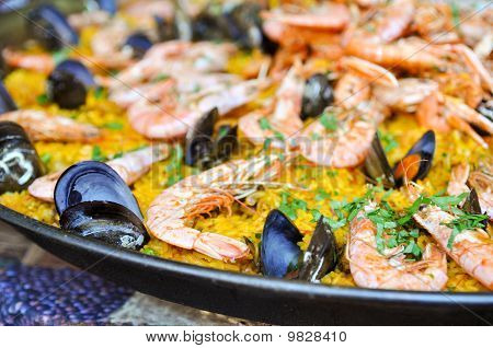 Spanish Paella Close Up
