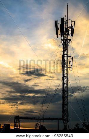 Telecom antennas.