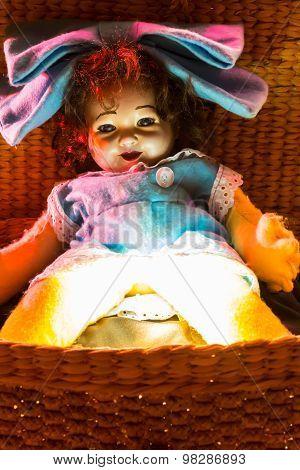 Abandoned scary doll.