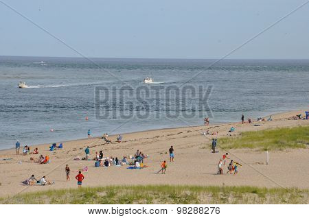 Nauset Beach in Chatham on Cape Cod