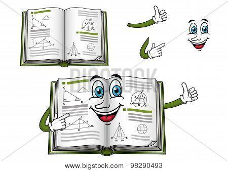 Geometry happy textbook cartoon character