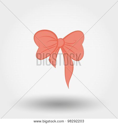 Pink bow.
