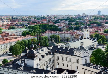 Vilnius, View Of Old Town From The Observation Deck