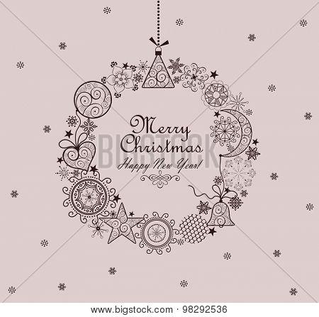 Decorative Christmas vintage wreath