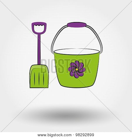 Bucket and shovel for the sandboxes.