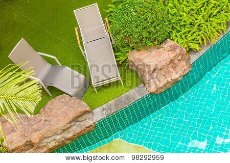 Swimming pool chair.