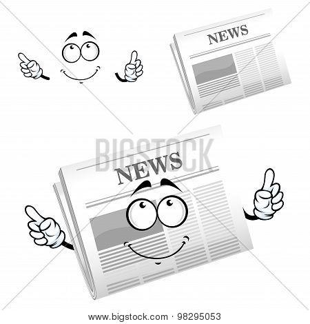 Cartoon weekly newspaper with header