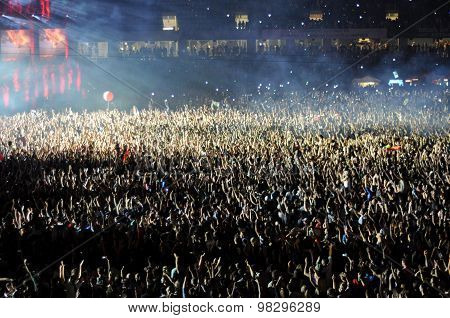 People At A Live Concert