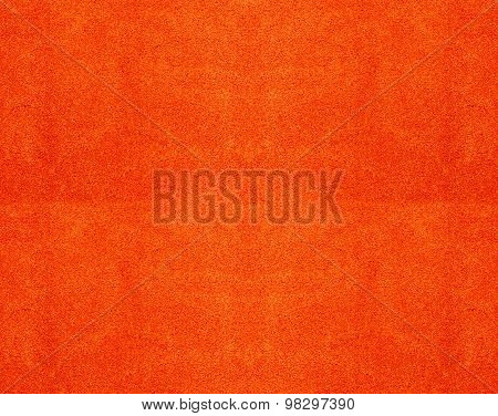 Texture Of A Orange Cotton Towel As A Background