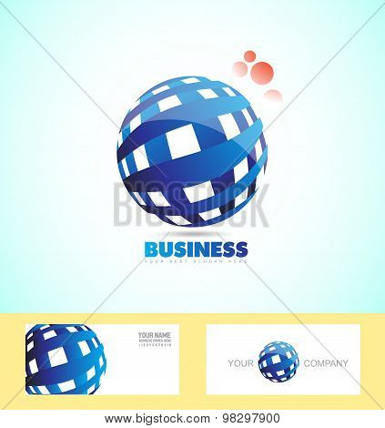 Corporate Business Sphere Logo 3D
