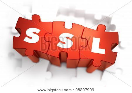 SSL - Text on Red Puzzles.