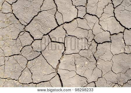 drought earth as textured background