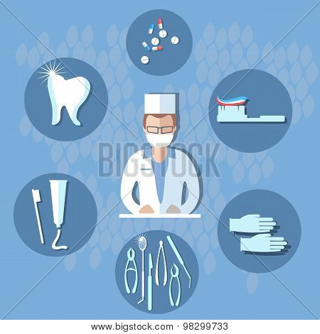 Dental Surgery, Dental Treatment, Tooth, Dentist, Tools, Hygiene, Toothpaste, Dental Floss