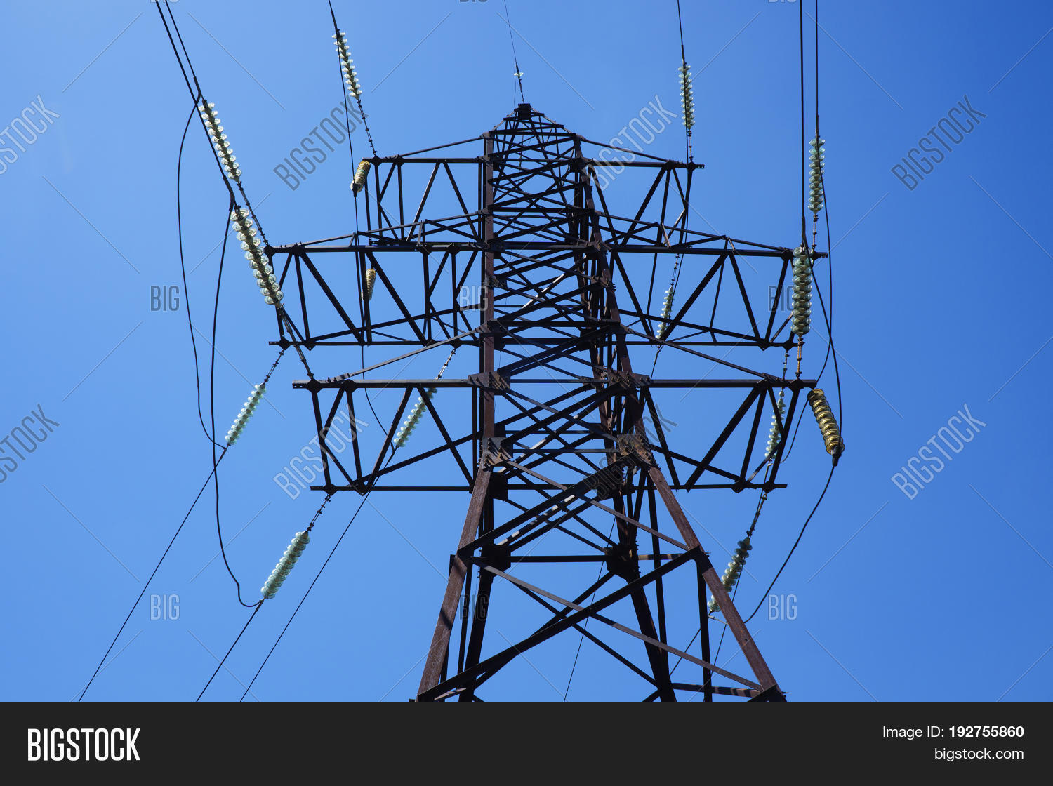 Electric Pillar. Electric Wires On Image & Photo | Bigstock