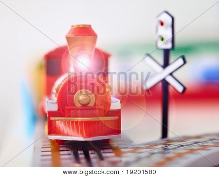 Toy Steam Engine Closeup