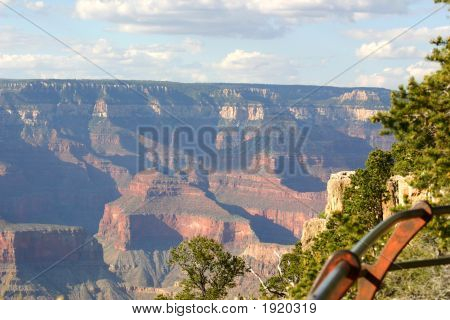 Grand Canyon - View At Handrail