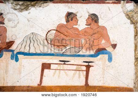 Ancient Greek Fresco
