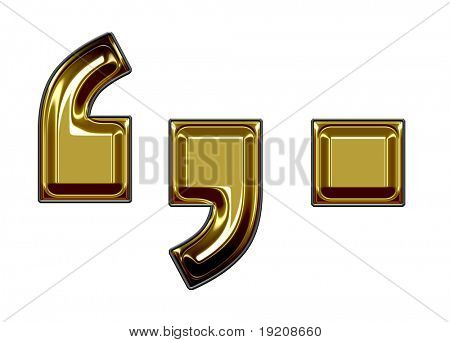 gold period quotation mark